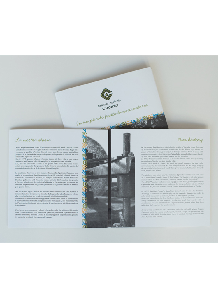 <p><strong>Brochure olio Cuonzo</strong>  <br> Agenzia Emmecidue</p>